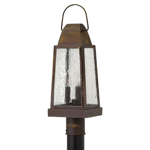 Hinkley Lighting Post Light with Clear Glass in Sienna Finish 1771SN