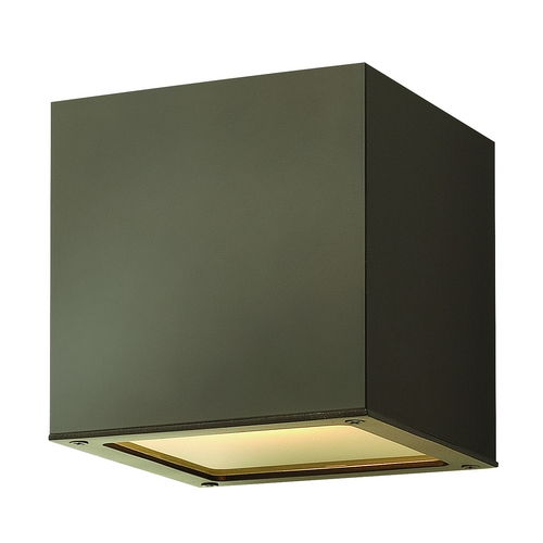 Hinkley Lighting Modern Outdoor Wall Light with Etched in Bronze Finish 1767BZ