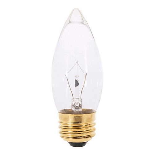 Satco Lighting Incandescent Flame Light Bulb Medium Base 120V by Satco S4740