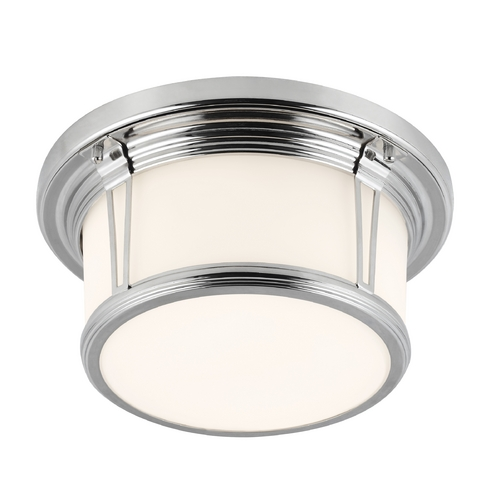 Feiss Lighting Feiss Lighting Woodward Polished Nickel Flushmount Light FM387PN