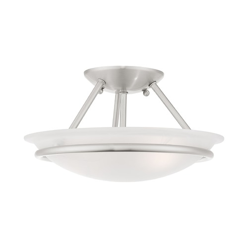 Livex Lighting Livex Lighting Newburgh Brushed Nickel Semi-Flushmount Light 4823-91