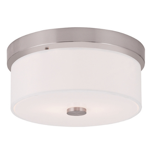 Livex Lighting Livex Lighting Meridian Brushed Nickel Flushmount Light 50862-91