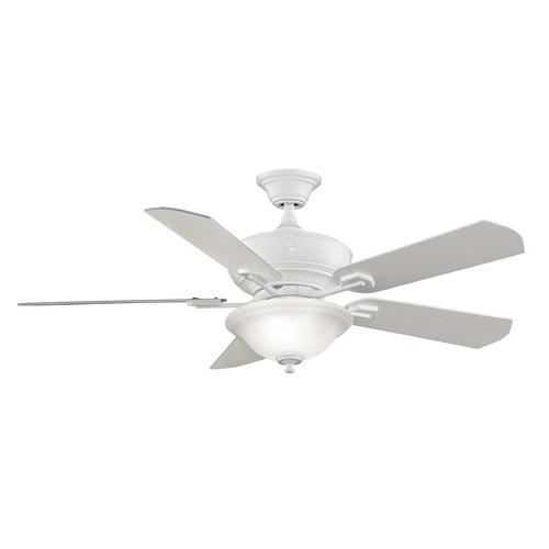 Fanimation Fans Fanimation Fans Camhaven White Ceiling Fan with Light FP8095WH