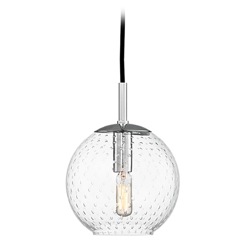 Hudson Valley Lighting Hudson Valley Lighting Rousseau Polished Chrome Mini-Pendant Light with Globe Shade 2007-PC-CL