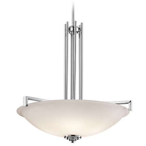 Kichler Lighting Kichler Lighting Eileen Chrome LED Pendant Light with Bowl / Dome Shade 3299CHL16