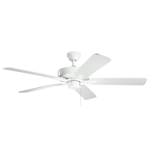 Kichler Lighting Basics Pro White 52-Inch Ceiling Fan without Light 330018WH