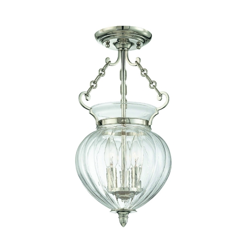 Hudson Valley Lighting Semi-Flushmount Light with Clear Glass in Old Bronze Finish 780-OB
