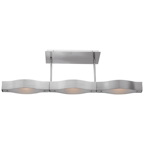 Access Lighting Modern Semi-Flushmount Light with White Glass in Brushed Steel Finish 62315-BS/FST