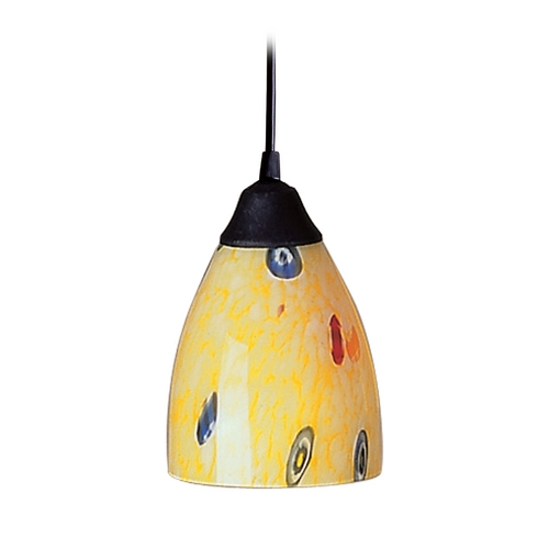 Elk Lighting Modern Mini-Pendant Light with Art Glass 406-1YW