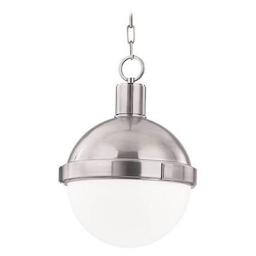 Hudson Valley Lighting Mini-Pendant Light with White Glass 609-SN
