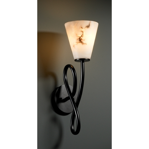 Justice Design Group Justice Design Group Lumenaria Collection Sconce FAL-8911-50-MBLK