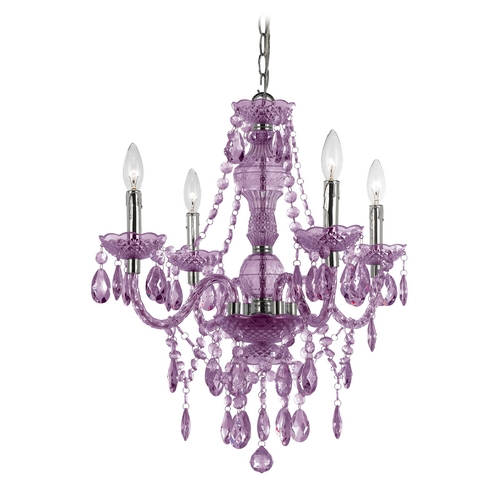 AF Lighting Naples Mini-Chandelier with Swag Kit 8353-4H