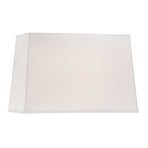 Design Classics Lighting Large Rectangle Lamp Shade in White Linen Fabric with Spider Assembly DCL SH7284 PCW