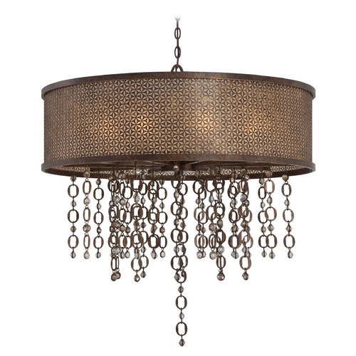 Metropolitan Lighting Drum Pendant Light in French Bronze Finish N6729-258