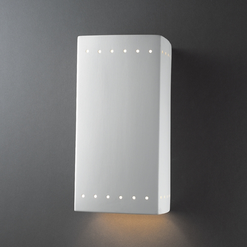 Justice Design Group Outdoor Wall Light in Bisque Finish CER-5960W-BIS