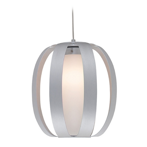 Access Lighting Access Lighting Helix Aluminum Pendant Light with Cylindrical Shade C23425ALUOPLEN1118BS