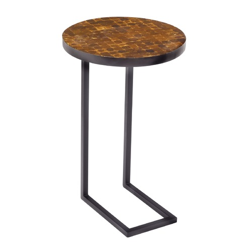 Sterling Lighting Coco Round Accent Table With Iron Leg 150-019