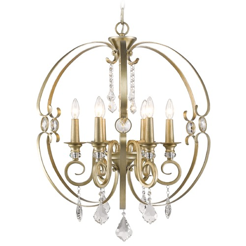 Golden Lighting Golden Lighting Ella White Gold Chandelier 1323-6 WG