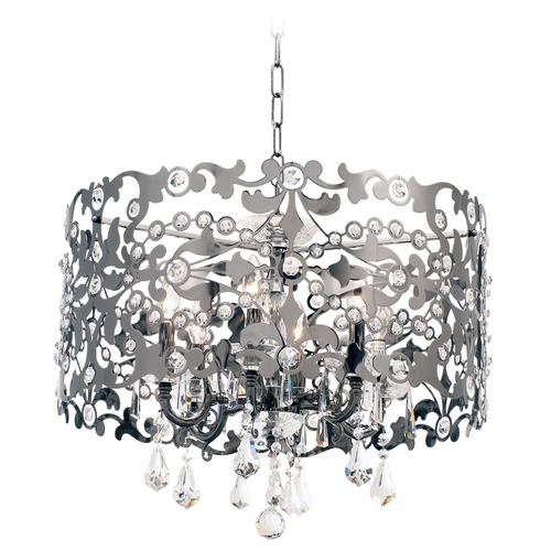 Allegri Lighting Bizet 6 Light Chandelier w/ Swarovski Elements Crystal w/ Black Pearl 10248-007-SE001