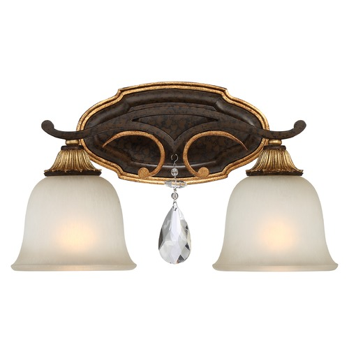 Metropolitan Lighting Chateau Nobles Raven Bronze with Sunburst Gold Bathroom Light N1462-652