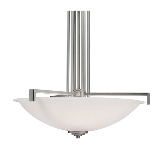 Kichler Lighting Kichler Lighting Eileen Brushed Nickel LED Pendant Light with Bowl / Dome Shade 3299NIL16