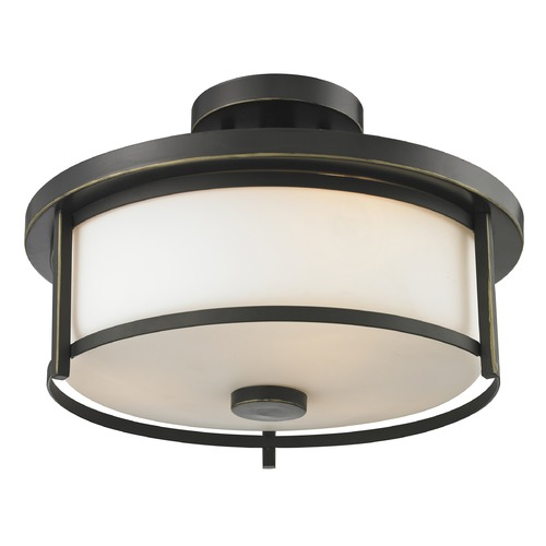 Z-Lite Z-Lite Savannah Olde Bronze Semi-Flushmount Light 413SF14