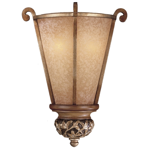 Minka Lavery Sconce with Beige / Cream Glass in Florence Patina Finish 1570-477
