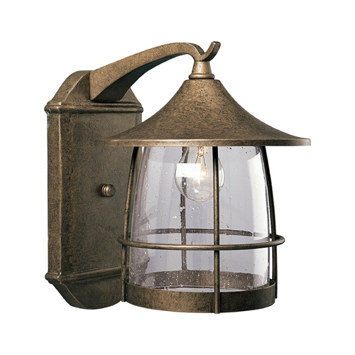 Progress Lighting Progress Outdoor Wall Light with Clear Glass in Chestnut Finish P5764-86