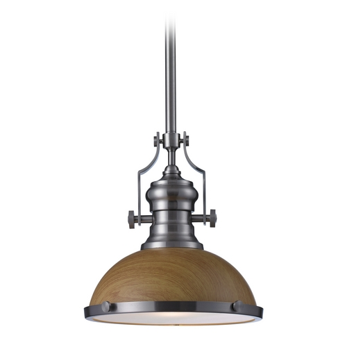 Elk Lighting LED Pendant Light in Satin Nickel Finish 66574-1-LED