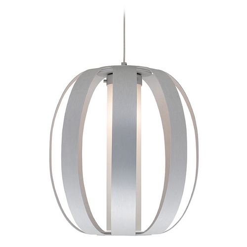 Access Lighting Access Lighting Helix Aluminum Pendant Light with Cylindrical Shade C23426ALUOPLEN1118BS