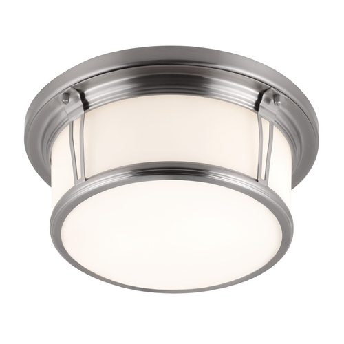 Feiss Lighting Feiss Lighting Woodward Brushed Steel Flushmount Light FM388BS