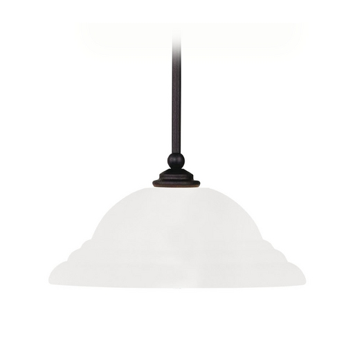 Livex Lighting Livex Lighting North Port Brushed Nickel Pendant Light with Bowl / Dome Shade 4254-91
