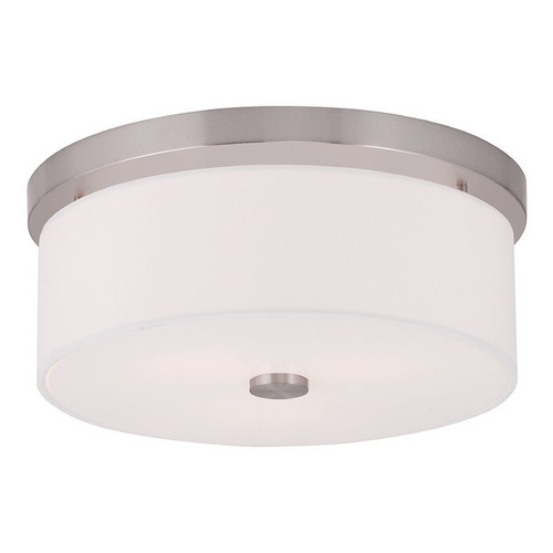 Livex Lighting Livex Lighting Meridian Brushed Nickel Flushmount Light 50863-91