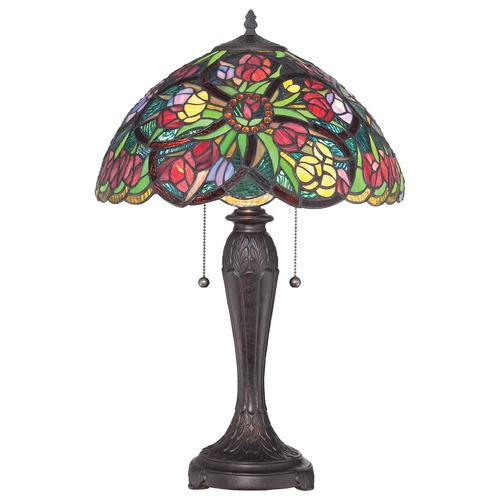 Quoizel Lighting Quoizel Tiffany Antique Bronze Table Lamp TF1868T