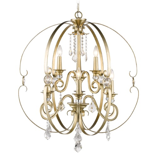 Golden Lighting Golden Lighting Ella White Gold Crystal Chandelier 1323-9 WG