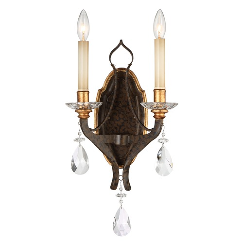 Metropolitan Lighting Chateau Nobles Raven Bronze with Sunburst Gold Sconce N6452-652
