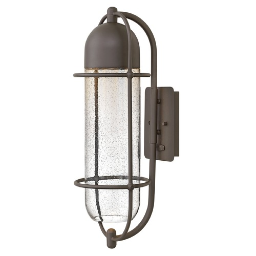 Hinkley Lighting Seeded Glass Outdoor Wall Light Oil Rubbed Bronze Hinkley Lighting 2384OZ