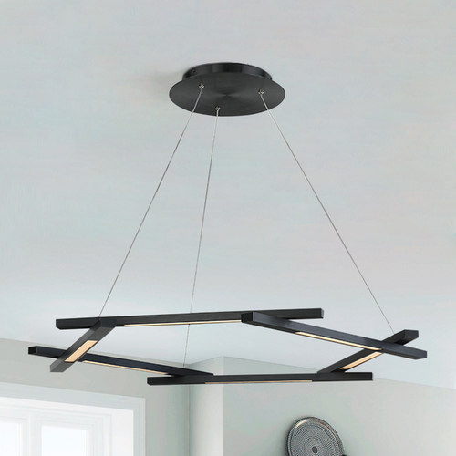 Modern Forms by WAC Lighting Metric LED Pendant PD-43738-BK