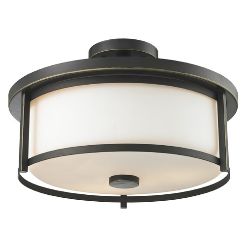 Z-Lite Z-Lite Savannah Olde Bronze Semi-Flushmount Light 413SF16