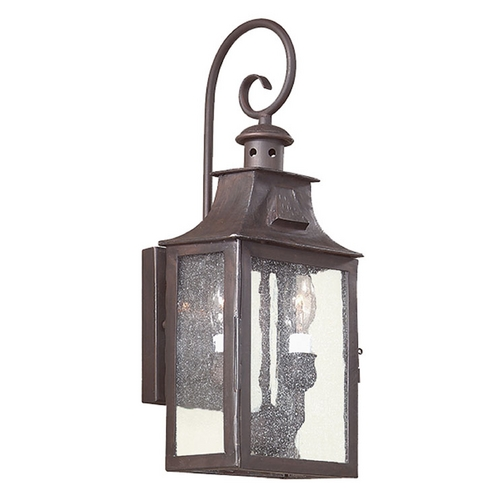 Troy Lighting Outdoor Wall Light with Clear Glass in Old Bronze Finish BCD9001OBZ
