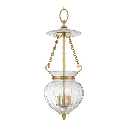 Hudson Valley Lighting Mini-Pendant Light with Clear Glass 781-AGB