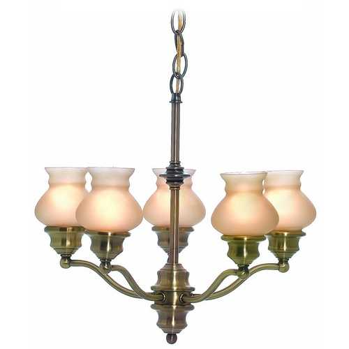 Lite Source Lighting Lite Source Lighting Susie Antique Brass Chandelier LS-19271AB/AMB