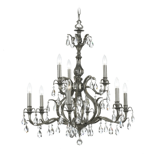 Crystorama Lighting Crystal Chandelier in Pewter Finish 5569-PW-CL-MWP