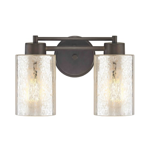 Design Classics Lighting Mercury Glass Bathroom Light Bronze 702-220 GL1039C
