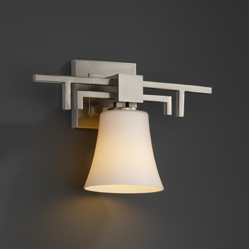 Justice Design Group Justice Design Group Fusion Collection Sconce FSN-8701-20-OPAL-NCKL