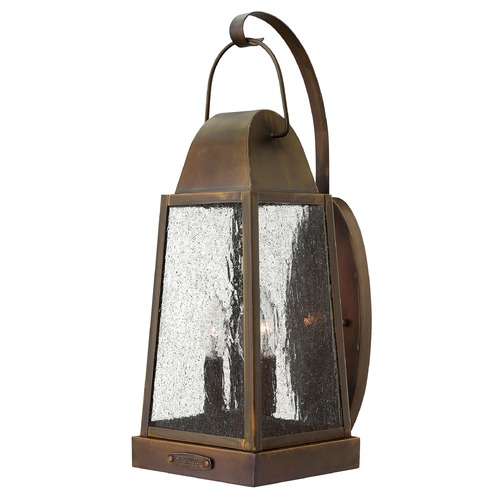 Hinkley Lighting Outdoor Wall Light with Clear Glass in Sienna Finish 1775SN