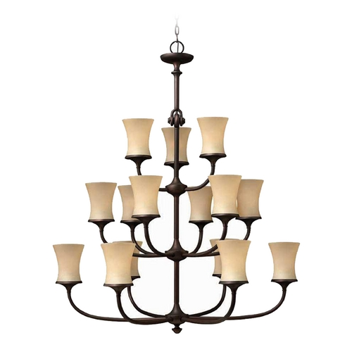 Hinkley Lighting Chandelier with Amber Glass in Victorian Bronze Finish 4179VZ