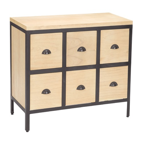 Sterling Lighting Chest 6 Drawers With Iron Frames 150-021