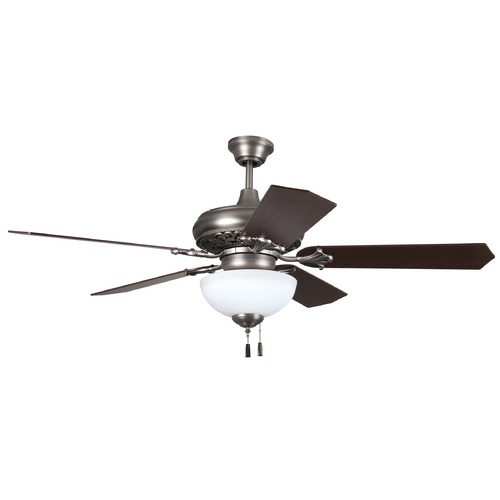 Craftmade Lighting Craftmade Lighting Mia Antique Nickel LED Ceiling Fan with Light MI52AN-WG