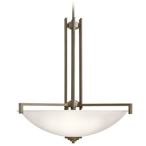 Kichler Lighting Kichler Lighting Eileen Olde Bronze Pendant Light with Bowl / Dome Shade 3299OZS